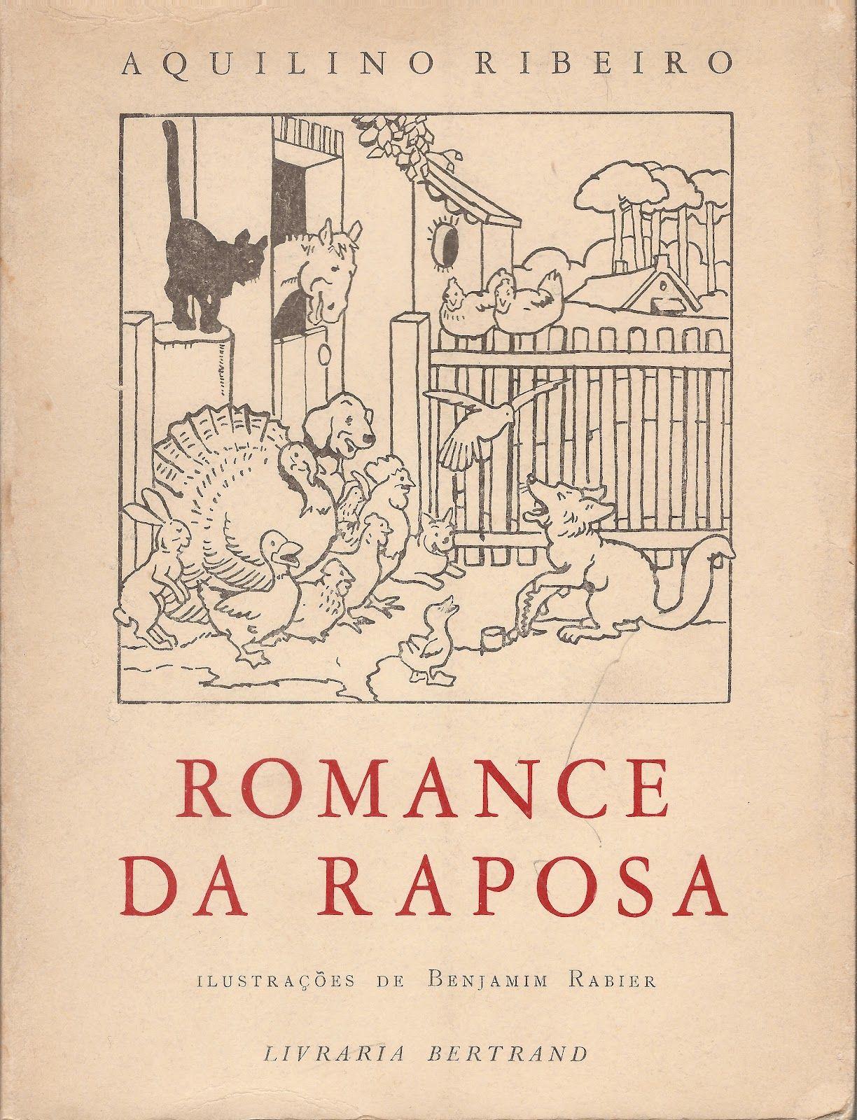 'Romance da Raposa', cover and illustration by Benjamim Rabier