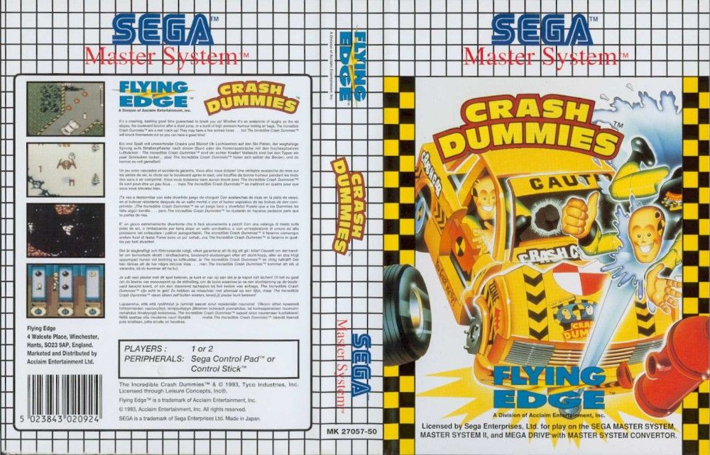 Crash Dummies UE Master System