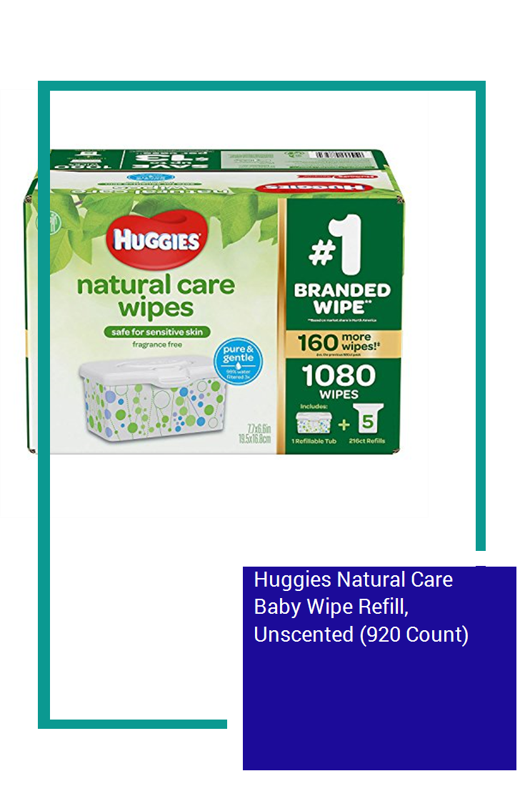 Huggies Natural Care Baby Wipe Refill Unscented 920 Count