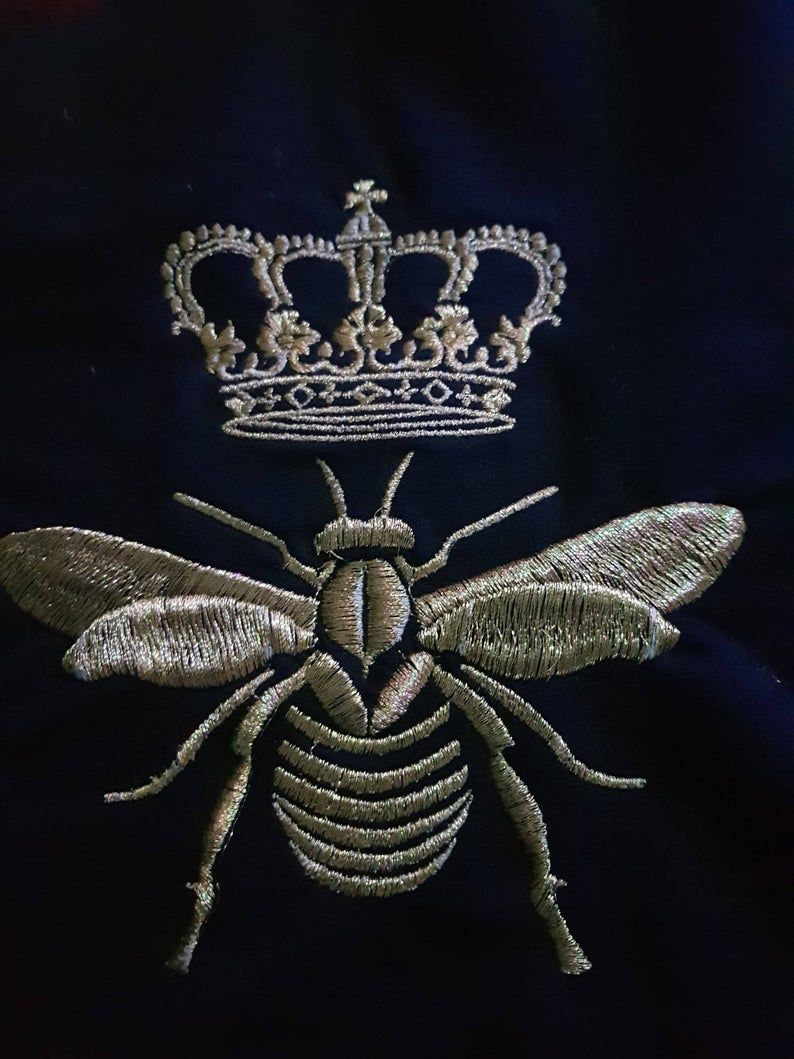 Royal Bee Machine Embroidery Design Instantly Download Tested