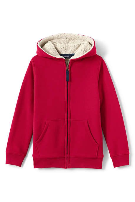 Boys Sherpa Fleece Lined Jacket,Zip up Sweatshirt Hoodie