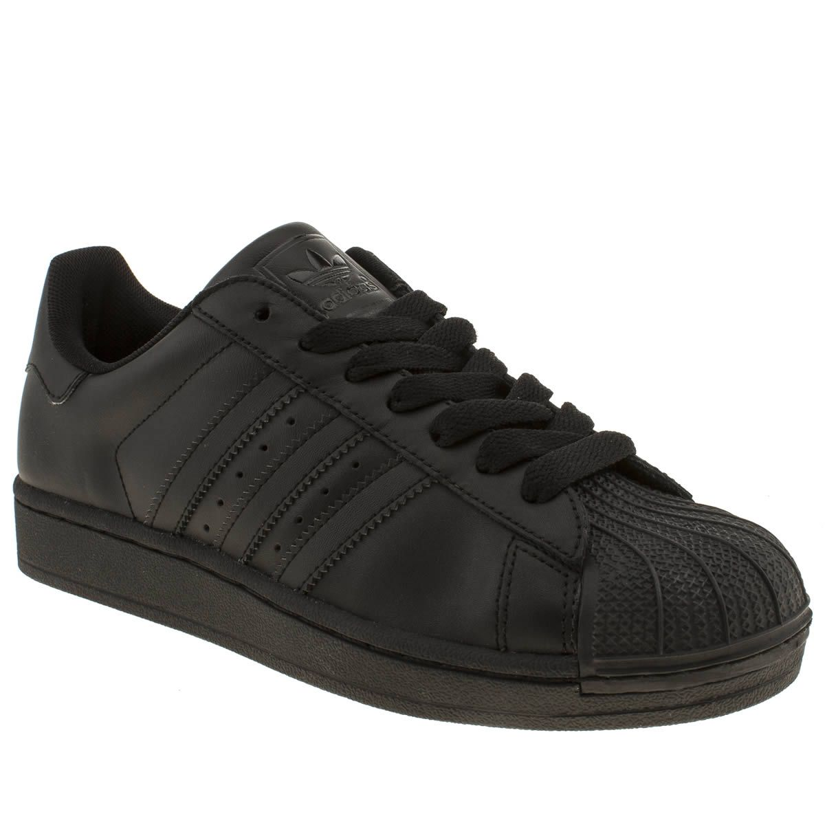 Black � womens adidas black superstar 2 trainers ...