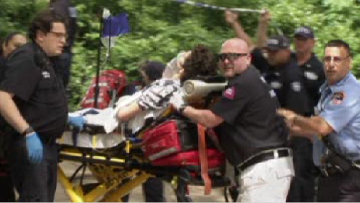 An 18-year-old Virginia man was severely injured in a small explosion in Central Park Sunday, said authorities, who quickly closed a large portion of the park as a precaution