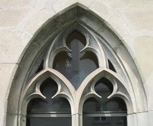 Gothic Window With Foil Arches Medieval Design Style In