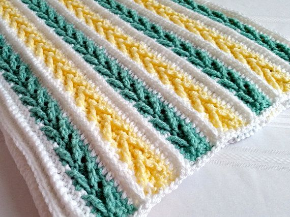 Crochet Pattern Avalon Baby Blanket Afghan by PeachtreeCottage ...