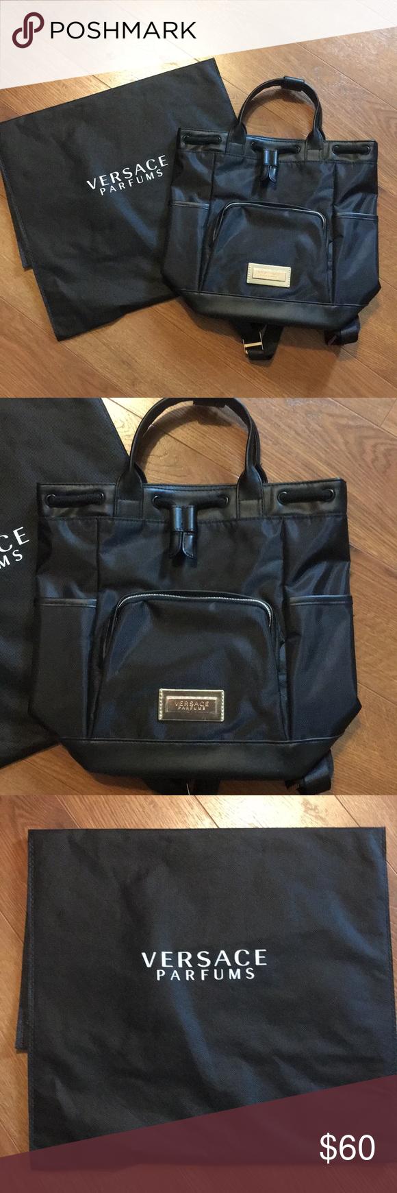 Nwot Versace Backpack Dust Bag Authentic Versace Backpack Bags Dust Bag
