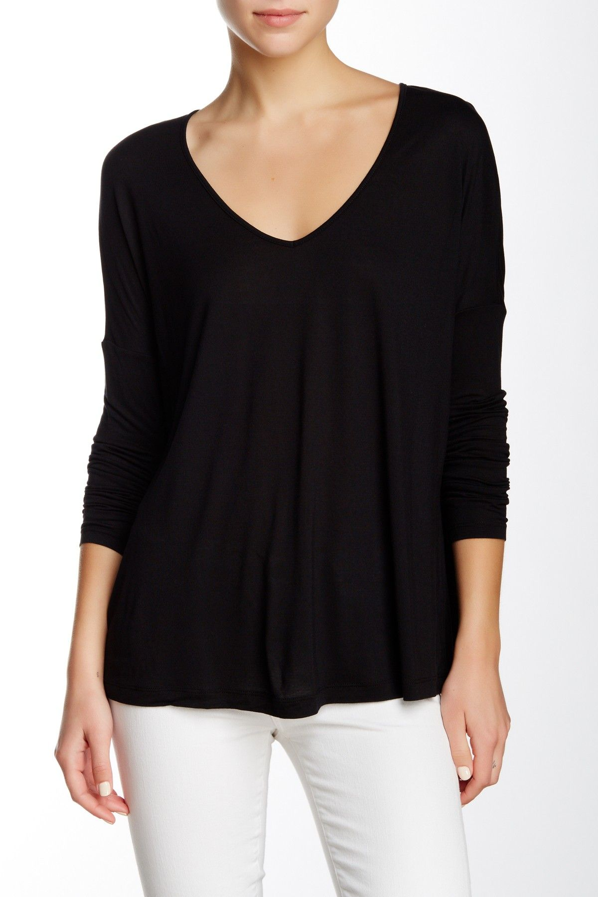 V-Neck Oversized Long Sleeve Tee by Haute Hippie on @nordstrom_rack