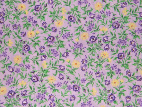 Bty Lavender Purple Yellow Flowers Print 100 Cotton Quilt Crafting Fabric By The Yard Yellow Flowers Purple Yellow Flower Prints