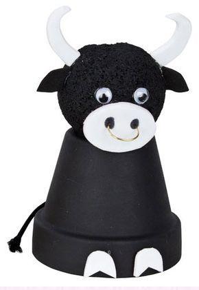 DecoArt® Terra Cotta Bull #claypot #craft