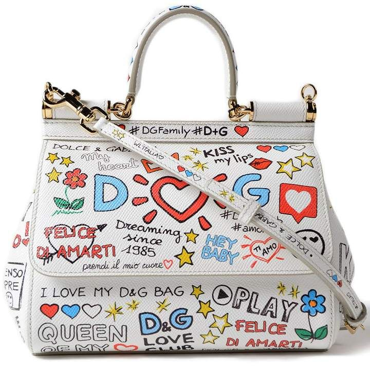 a9368540cd5e Dolce & Gabbana Small Sicily Mural Print Shoulder Bag | Products in ...