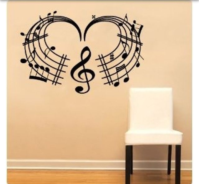 Music Wall Decal Music Wall Large Wall Decals Music Decor