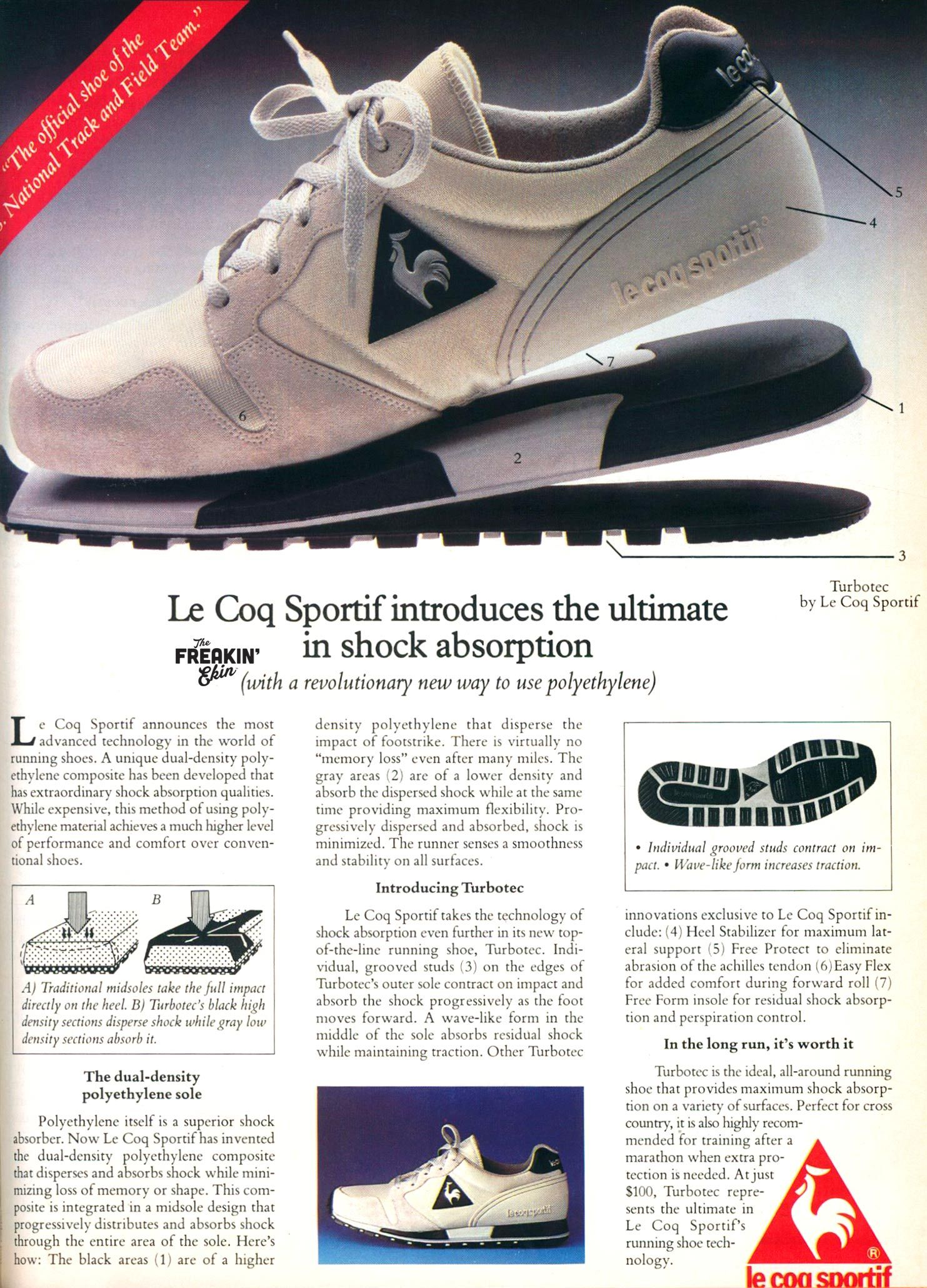 size 40 42723 18bde Le Coq Sportif 1984 Turbotec vintage sneaker ad  The Freakin Ekin