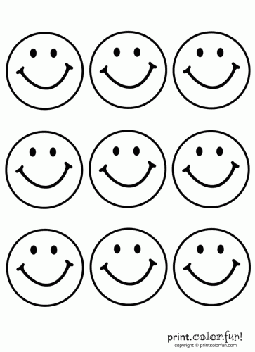 Caras Felices Para Imprimir Coloring Pages Smiley Face