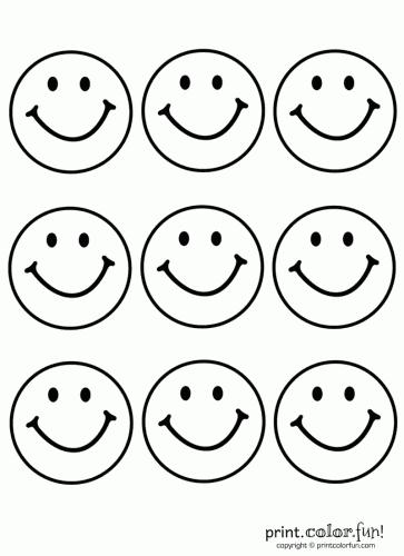 Caras felices para imprimir
