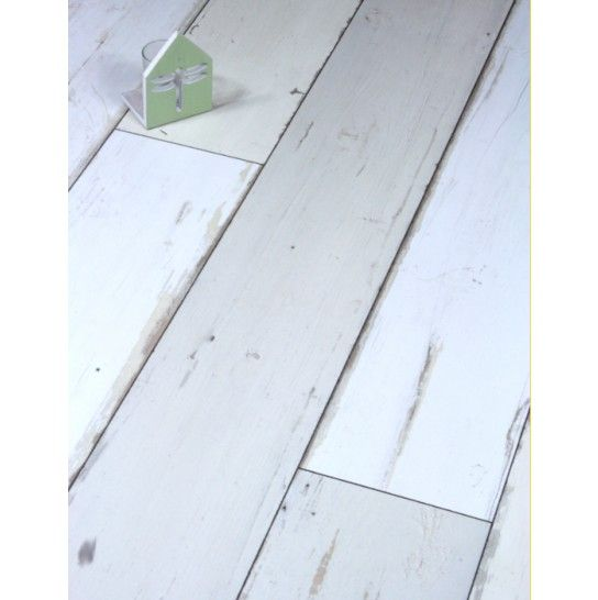Kronotex Brave White Distressed Plank Laminate Flooring