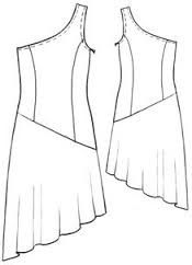 Molde vestido corte princesa corto