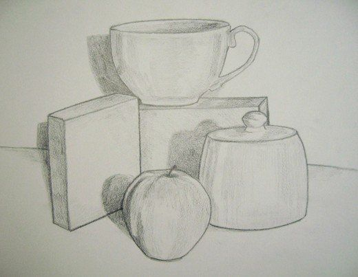 Still Life Drawing With Shades And Darker Outlines Still Life Drawing Art Blog Drawings