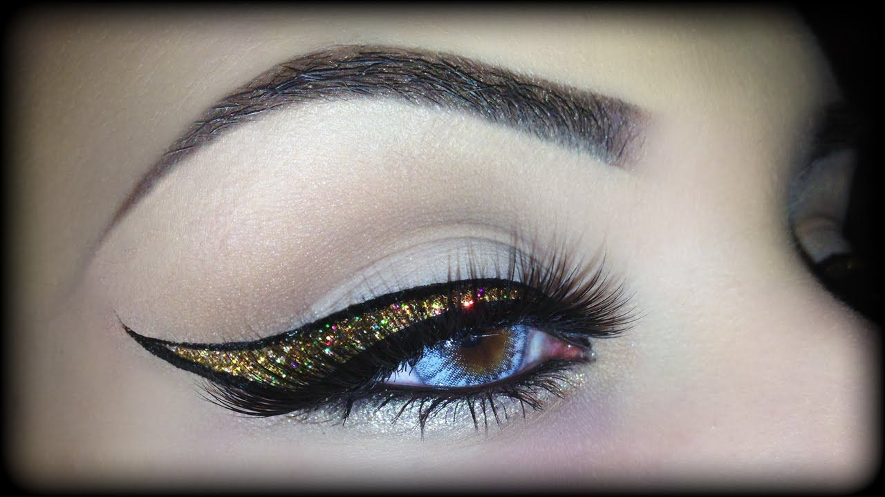 Christmas Beauty Tutorial: Glittery Gold Makeup and Modern Chic Updo recommendations
