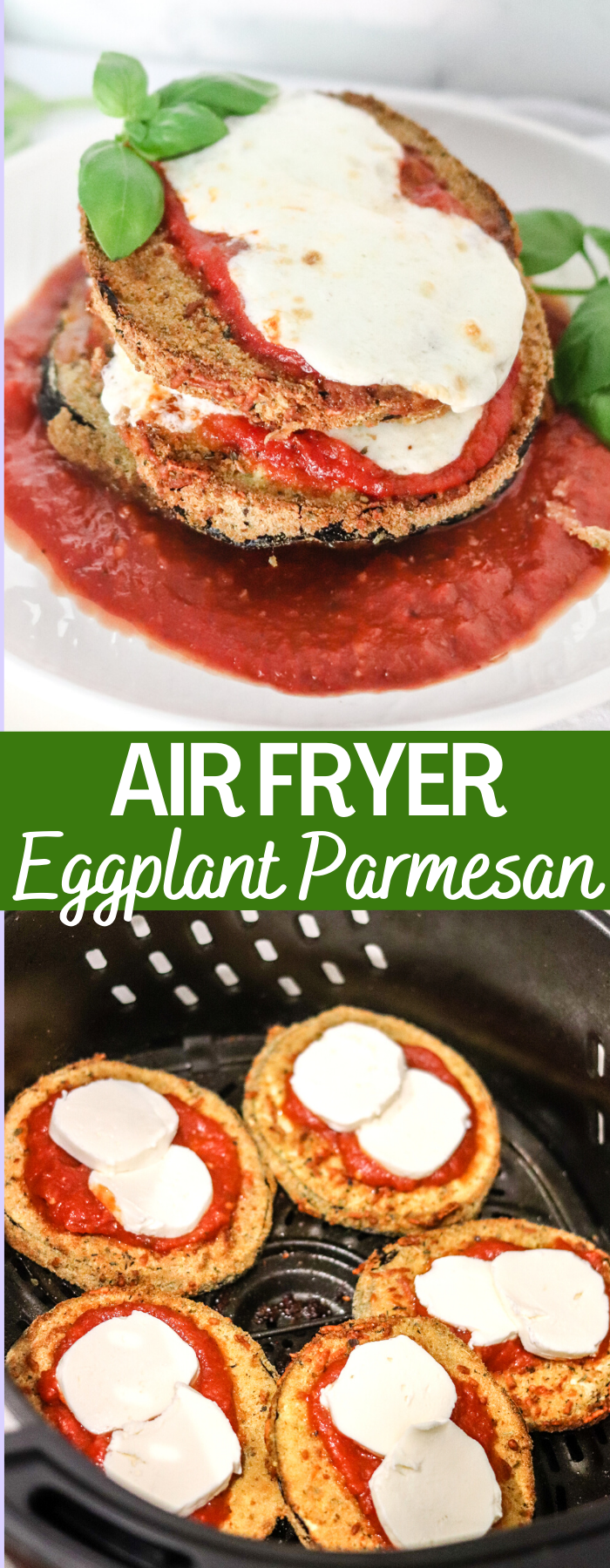 Making Eggplant Parmesan Has Never Been Easier Than With The Air Fryer Crispy On The Outside And Creamy On The Insid In 2020 Recipes Eggplant Parmesan Cooking Recipes