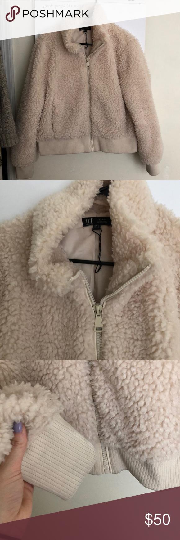 Zara Trf Faux Sherpa Bomber Jacket Zara Jackets Bomber Jacket [ 1740 x 580 Pixel ]
