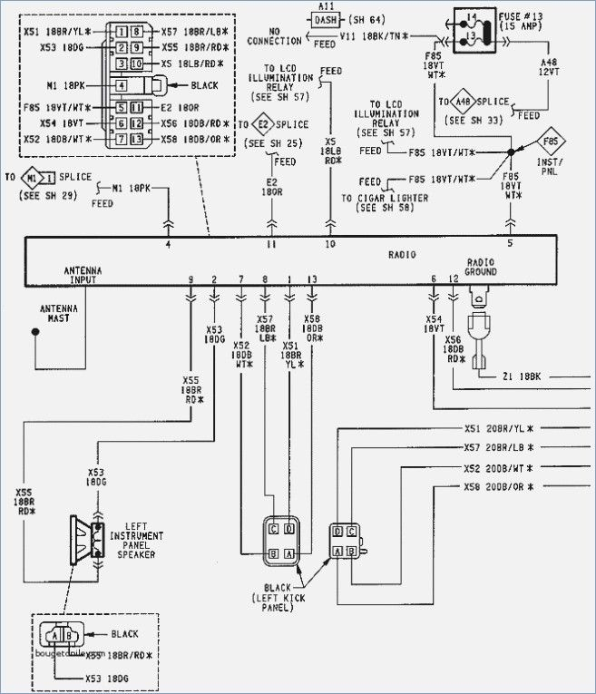 89 Jeep Cherokee Radio Diagram Full Hd Version Radio Diagram