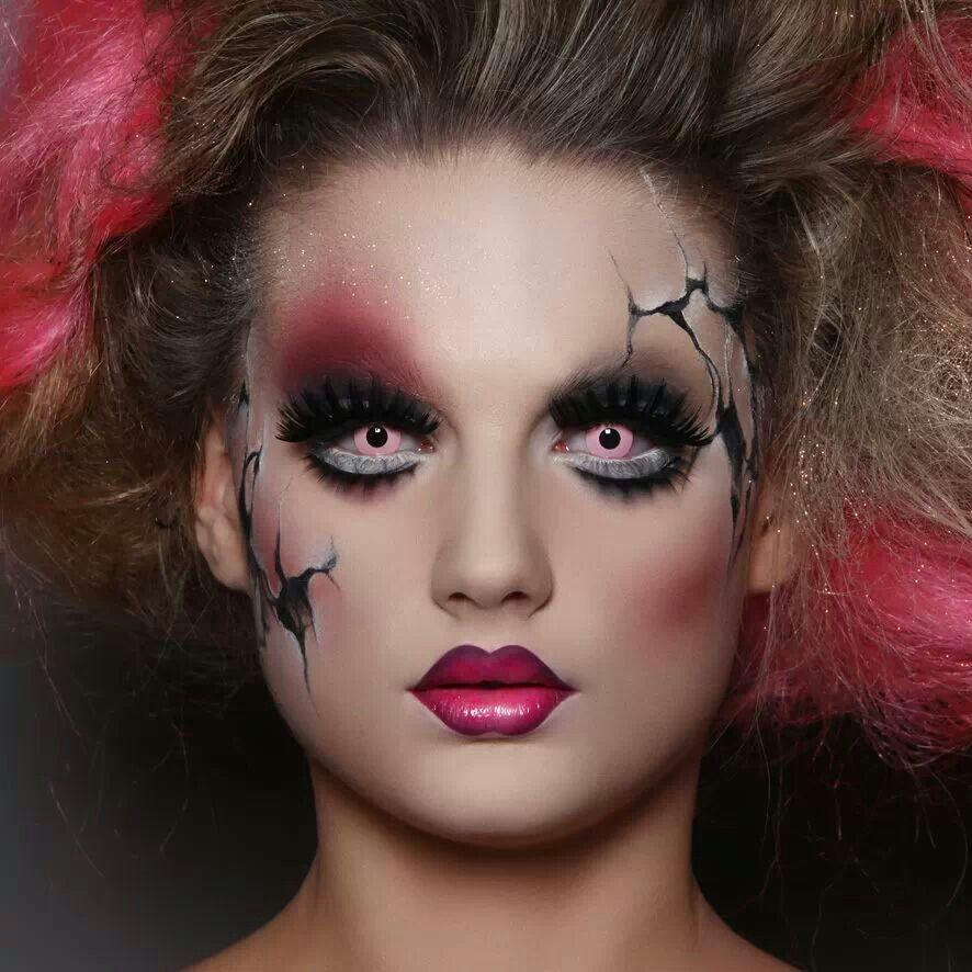 Scary doll makeup | UNIQUE MAKEUP IDEAS | Pinterest