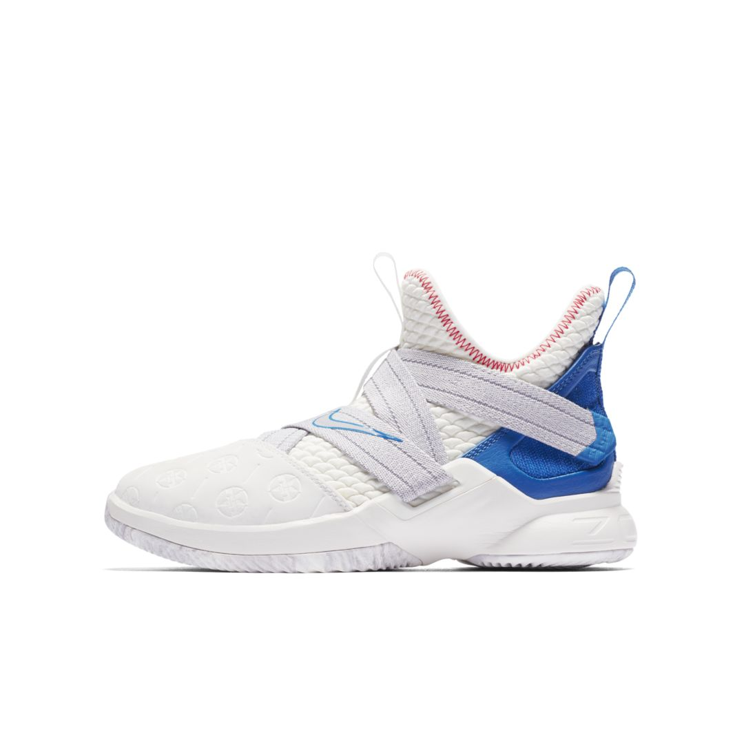 buy popular 7a9c2 a783e LeBron Soldier XII Big Kids  Basketball Shoe Size 4.5Y (Summit White)