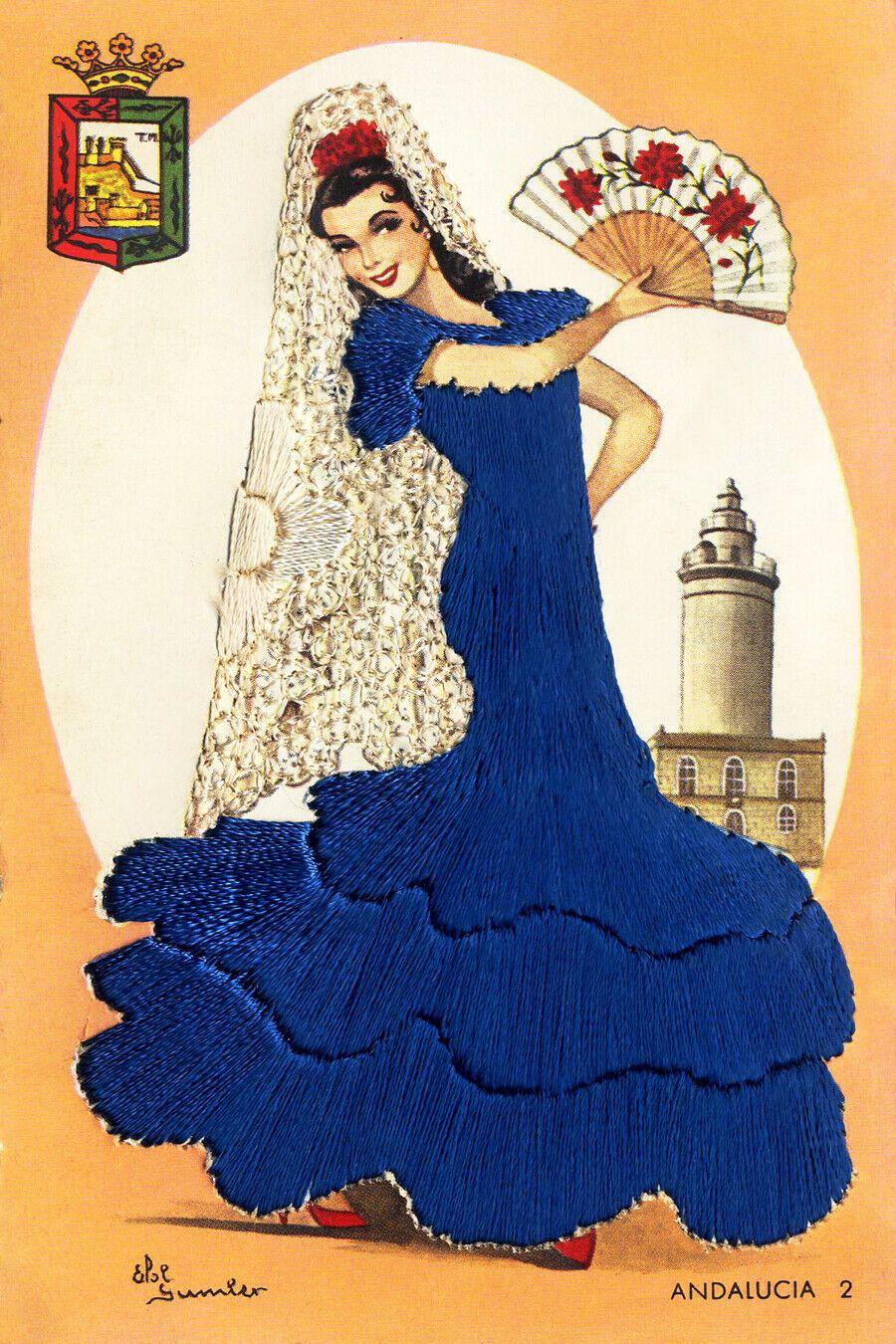 """Mujeres de Portugal #4 Canvas Art Poster 16/""""x 24/"""" Flamenco Postcard"""