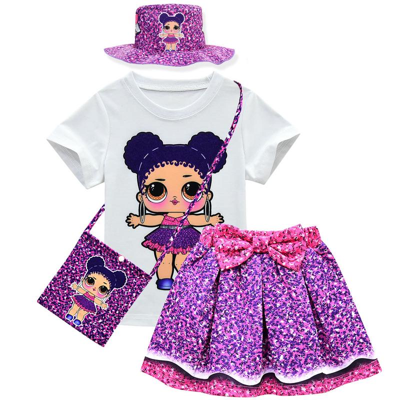 LoL Surprise Dolls Kids Girls Dress Costume Layered Mesh Princess Dresses 3-9Y