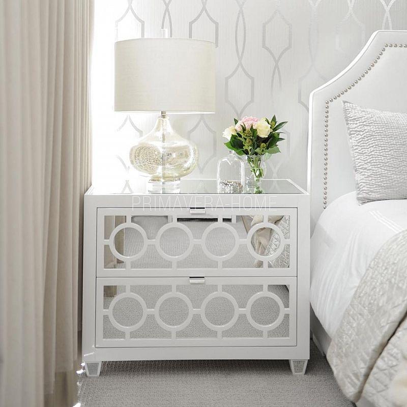 Szafka Nocna Lustrzana Komoda Nowoczesna Czarna Biala Styl Nowojorski Glamour Simple Bedroom Design Simple Bedroom Home Decor