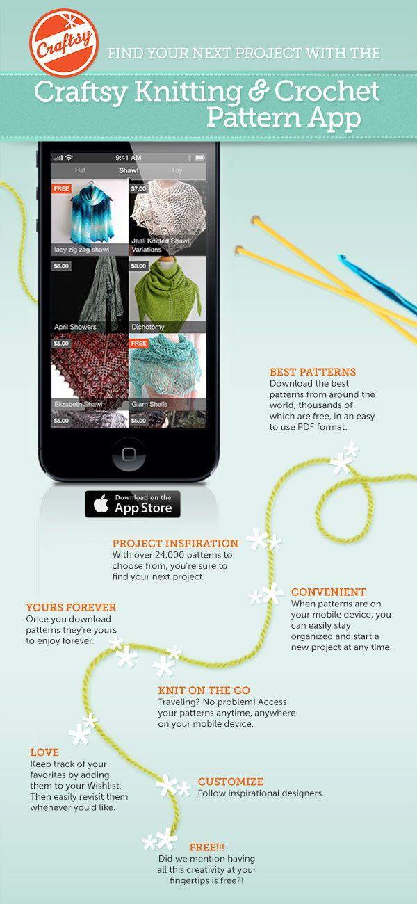 Download The New Craftsy Knitting And Crochet Pattern App For Iphone