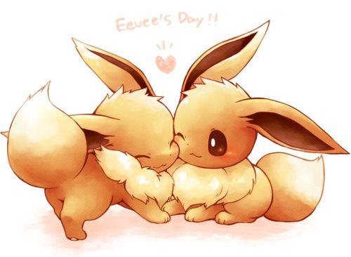 cute eevees cuddling my pokemon obsession pinterest pokémon