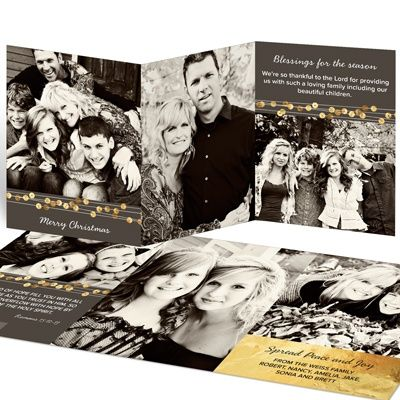 trifold christmas photo cards