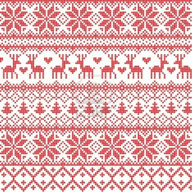nordic | FESTIVUS!☃☃ ❤ | Pinterest | Patterns and Embroidery