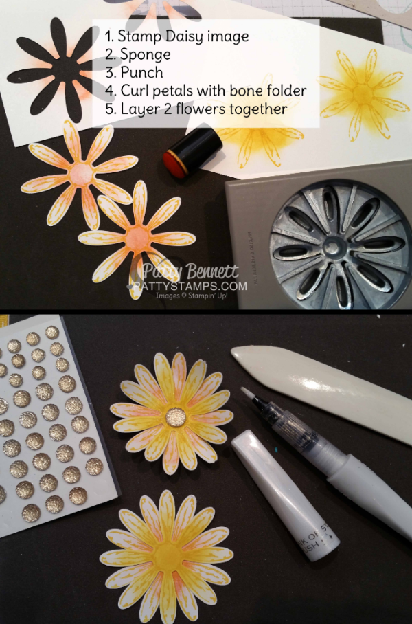 Tips for how to stamp the Daisy Delight / Daisy Punch from Stampin' UP!