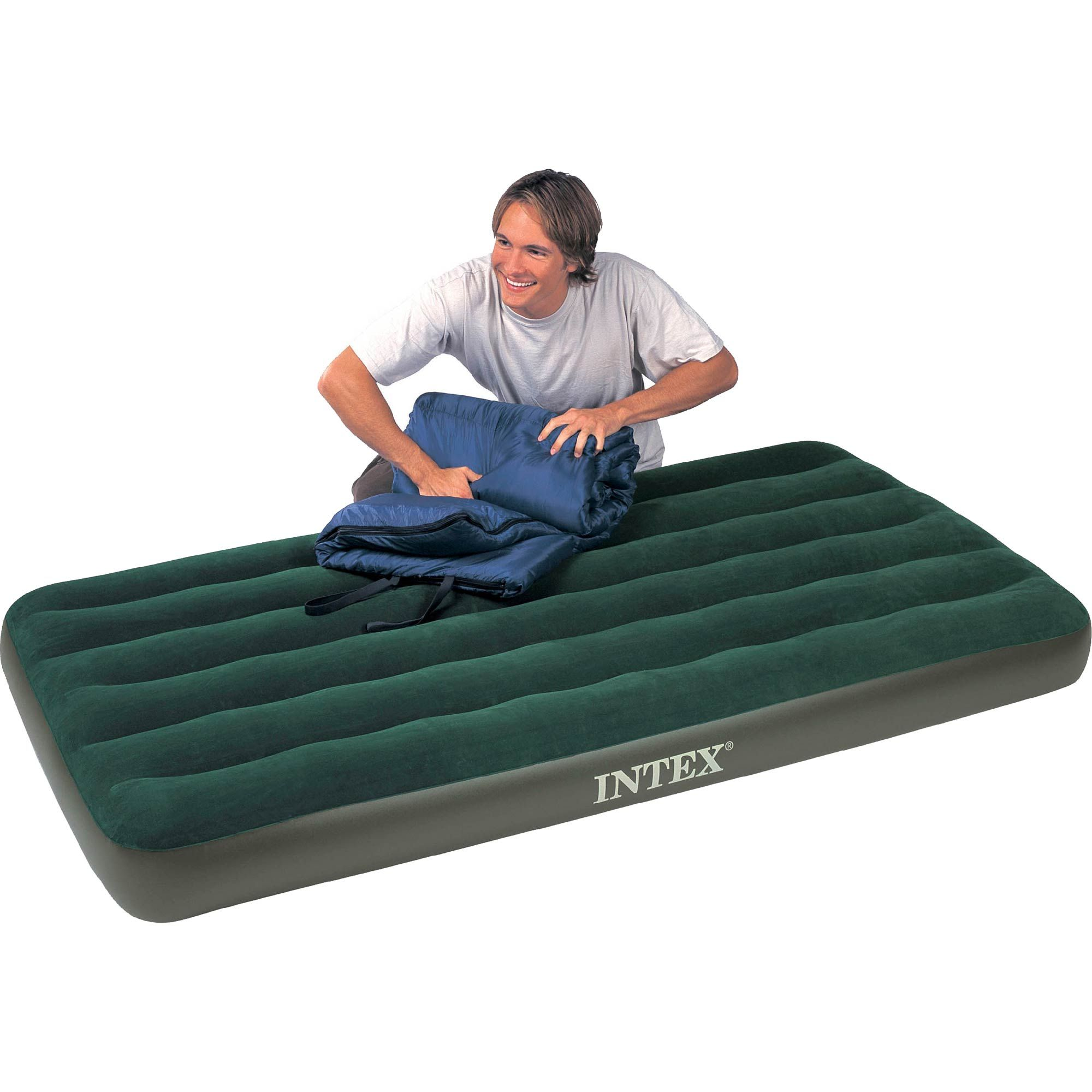 Intex Recreation Twin Prestige Downy Airbed with Combo