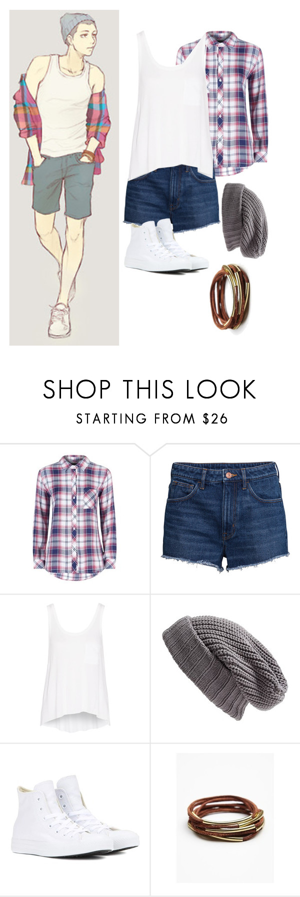 """""""Modern attack on Titan//Connie springer"""" by gglloyd ❤ liked on Polyvore featuring Levi's, Rails, H&M, rag & bone, Treasure & Bond, Converse, Free People and modern"""