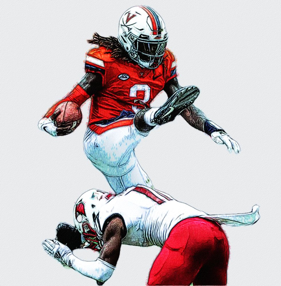 Bryce Perkins Virginia Qb College Football Art Football Illustration Football Art