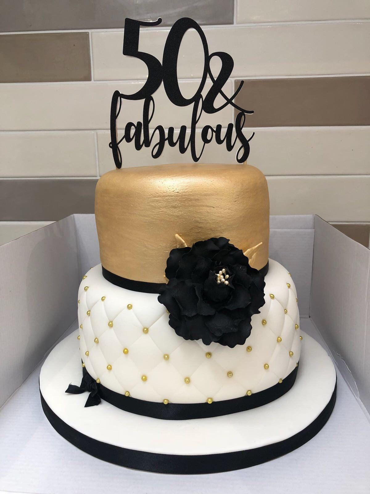 50 & Fabulous Cake Topper, 50 and Fabulous, 50th Birthday Party Decor, 50th Birthday Cake Topper, 50th Cake Decoration #moms50thbirthday