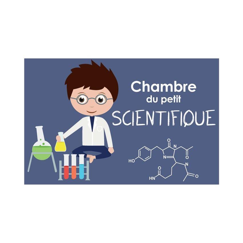 Plaque de porte enfant - Chambre du petit scientifique