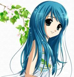 Female Anime Characters With Blue Hair Google Search Anime Anime Lovers Manga Art