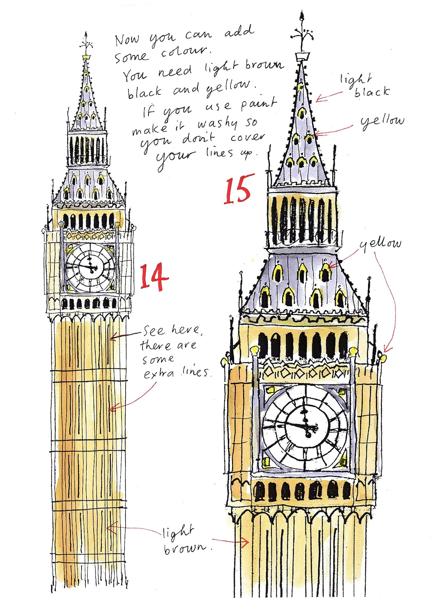 Drawing now big ben #1