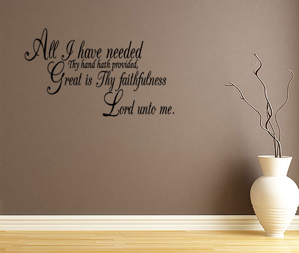 All i have needed quote lettering vinyl wall decal scripture verse all i have needed quote lettering vinyl wall decal scripture verse bible prayer amipublicfo Gallery