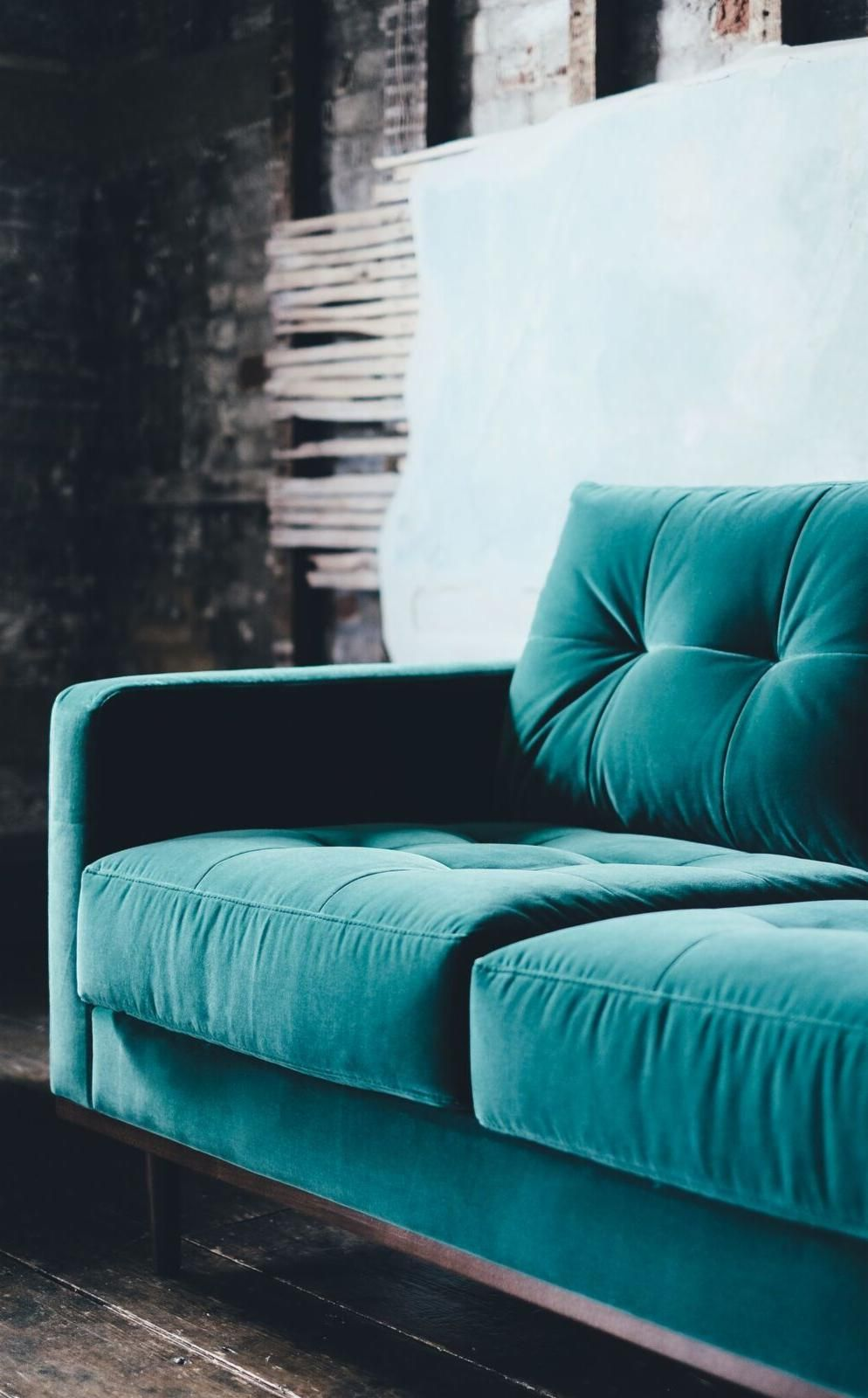 Sofa Berlin Design The Berlin Three Seater Sofa In Kingfisher Velvet Where