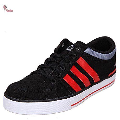 adidas Lite Racer, Chaussures de Tennis Homme, Noir (Negbas/Amasol/Grpudg), 44 EU