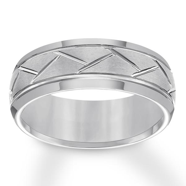 8mm Wedding Band Gray Tungsten Carbide Kay 8mm Wedding Band Tungsten Metal Stainless Steel Wedding Ring