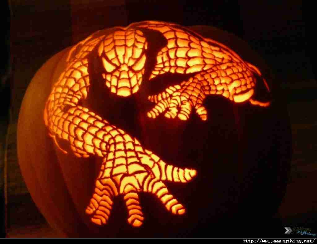 Pumpkin ideas - Spiderman!   Geek Chic   Pinterest