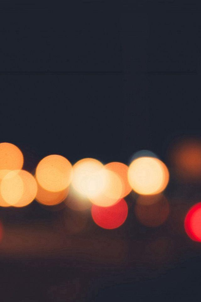Lights Bokeh Night Blur Pattern #iPhone #4s #wallpaper