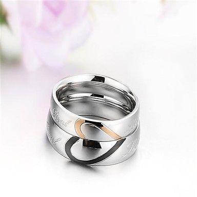 Anillo de amistad anillos anillos de pareja de acero inoxidable de amistad compromiso de plata con grabado