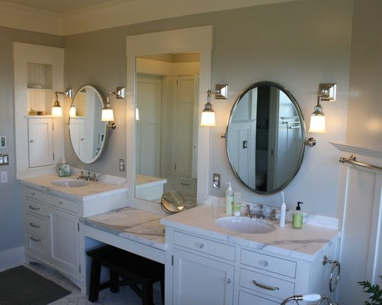 Make Photo Gallery Stunning Modern Bathroom Designs with Ceramic Material Gorgeous Details Bathrooms Design Interior Twin Oval Mirrors
